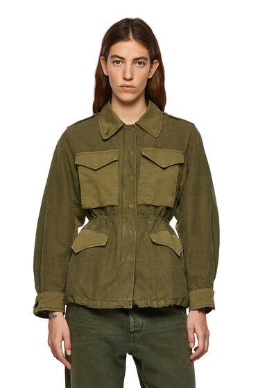 Jacke aus Baumwolle und Leinen