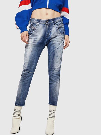 Diesel - Fayza JoggJeans 0870N, Mittelblau - Jeans - Image 1