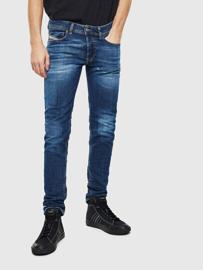 Diesel - Sleenker 0097T, Dunkelblau - Jeans - Image 1