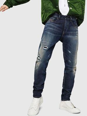 D-Strukt 0890W, Dunkelblau - Jeans