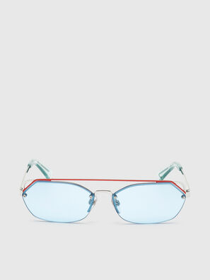 DL0313, Weiß/Rot - Sonnenbrille