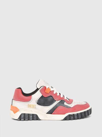 Diesel - S-RUA LOW SK, Weiss/Rot - Sneakers - Image 1