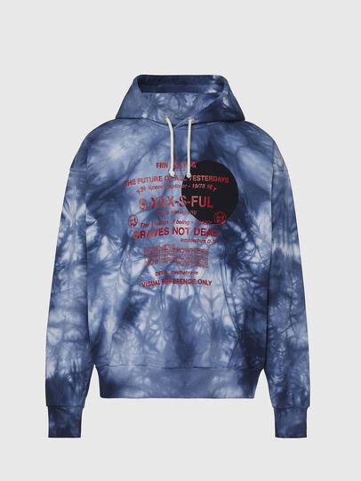 Diesel - S-MOONY, Blau/Weiss - Sweatshirts - Image 1