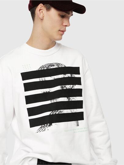 Diesel - S-BAY-YB, Weiß - Sweatshirts - Image 3