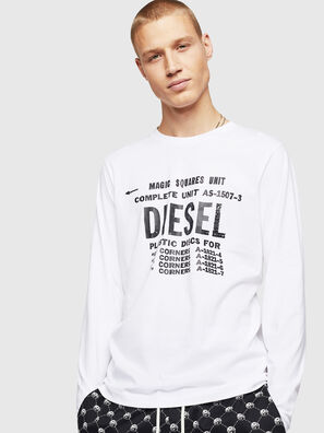 T-DIEGO-B6-LONG, Weiß - T-Shirts