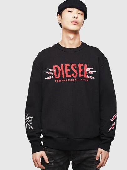 Diesel - CL-SNOR-LITMA, Schwarz - Sweatshirts - Image 1