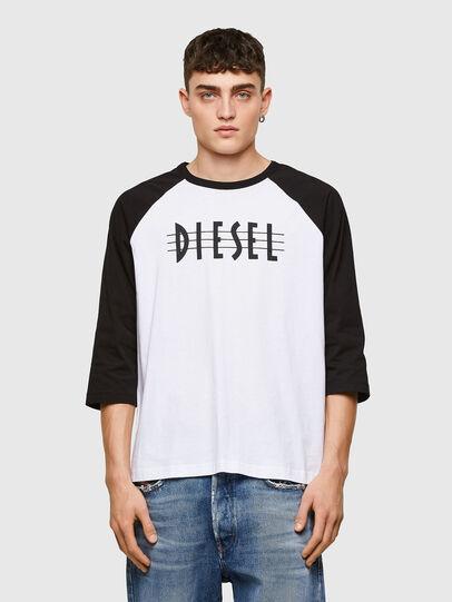 Diesel - T-BEISBOL, Weiß - T-Shirts - Image 1