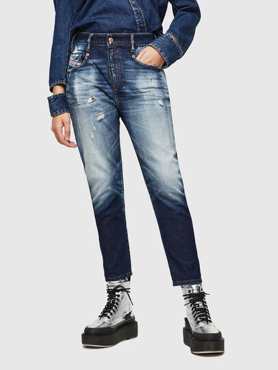 Diesel - Fayza 0092I, Dunkelblau - Jeans - Image 1