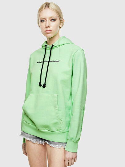 Diesel - S-GIRK-HOOD-FLUO, Neongrün - Sweatshirts - Image 2