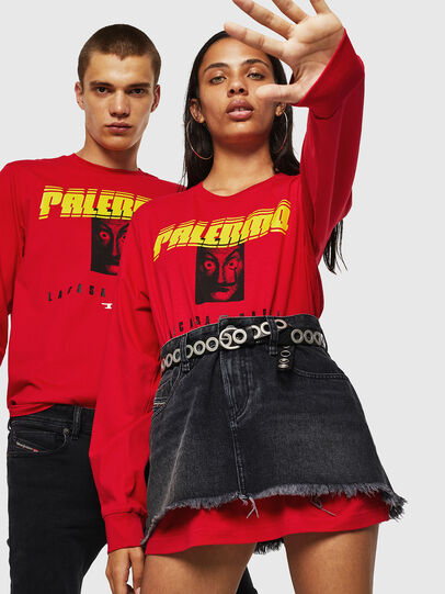Diesel - LCP-T-JUST-LS-PALERM, Rot - T-Shirts - Image 6