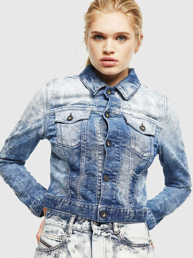 D-LIMMY-T, Mittelblau - Denim jacken