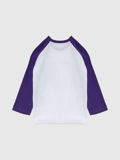 Diesel - TBALYB-FL-R, Weiss/Violett - T-Shirts und Tops - Image 2