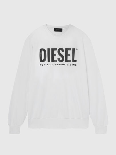 Diesel - S-GIR-DIVISION-LOGO, Weiß - Sweatshirts - Image 1