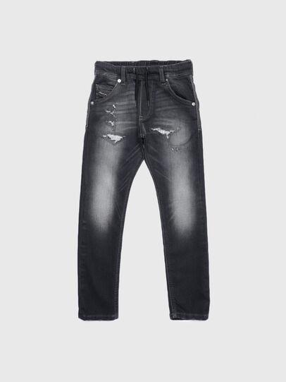Diesel - KROOLEY-J JOGGJEANS, Schwarz/Dunkelgrau - Jeans - Image 1