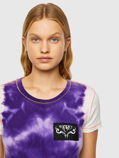 Diesel - T-SUPERY-V10, Weiss/Violett - T-Shirts - Image 3