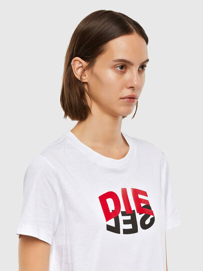 Diesel - T-SILY-V23, Weiß - T-Shirts - Image 3