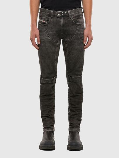 Diesel - D-Dean 009LI, Schwarz/Dunkelgrau - Jeans - Image 1