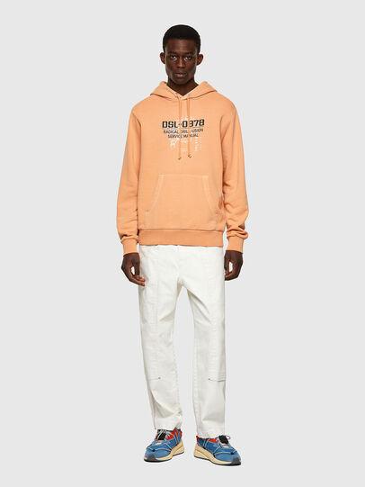 Diesel - S-GIRK-HOOD-B3, Orange - Sweatshirts - Image 4