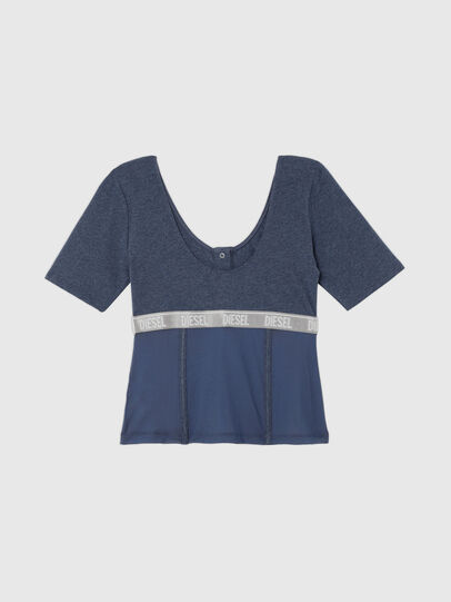 Diesel - UFTEE-TOPCUT-DN, Blau - T-Shirts - Image 2