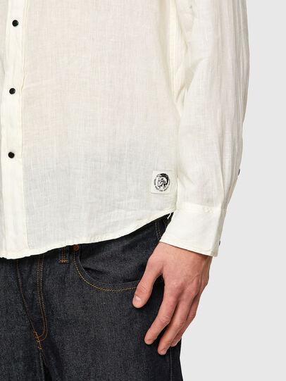 Diesel - S-EAST-LONG-LIN, Weiß - Hemden - Image 4