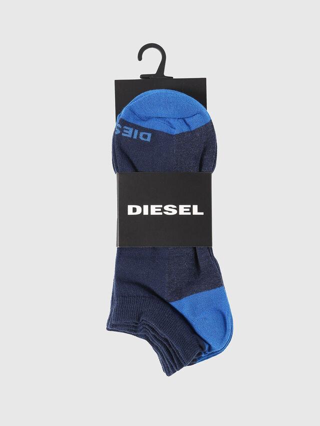 Diesel SKM-GOST-THREEPACK, Indigoblau - Kurze Socken - Image 2
