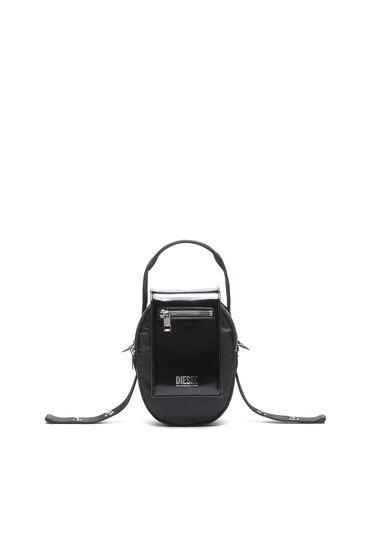 Kleine Crossbody-Tasche aus Nylon und Leder