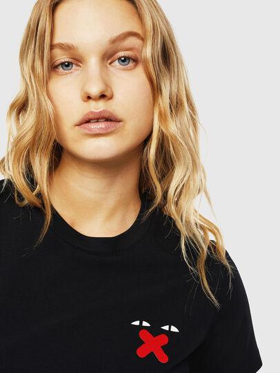 Diesel - UFTEE-SILY-INT, Schwarz - T-Shirts - Image 3