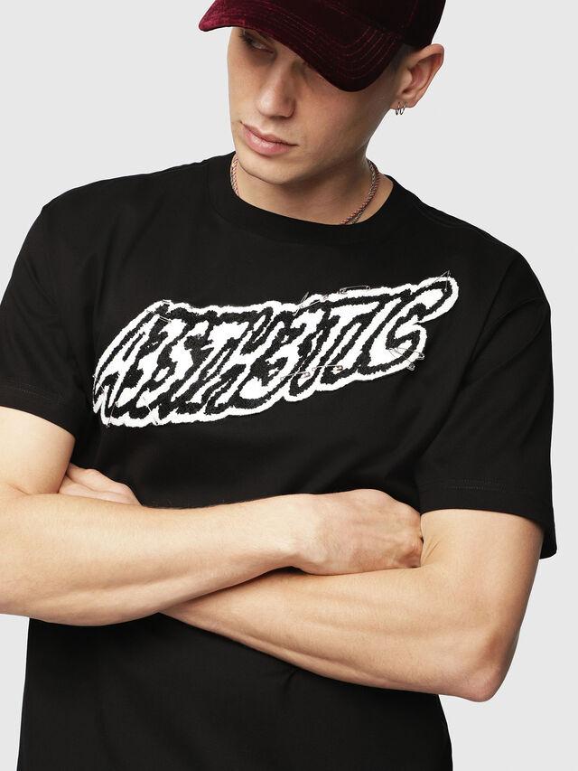 Diesel - T-WALLACE-YC, Schwarz - T-Shirts - Image 3