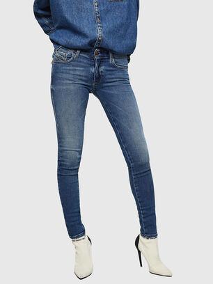 Slandy Low 083AN, Mittelblau - Jeans