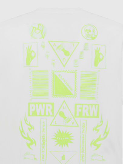 Diesel - T-JUST-SLITS-X84, Weiß - T-Shirts - Image 4