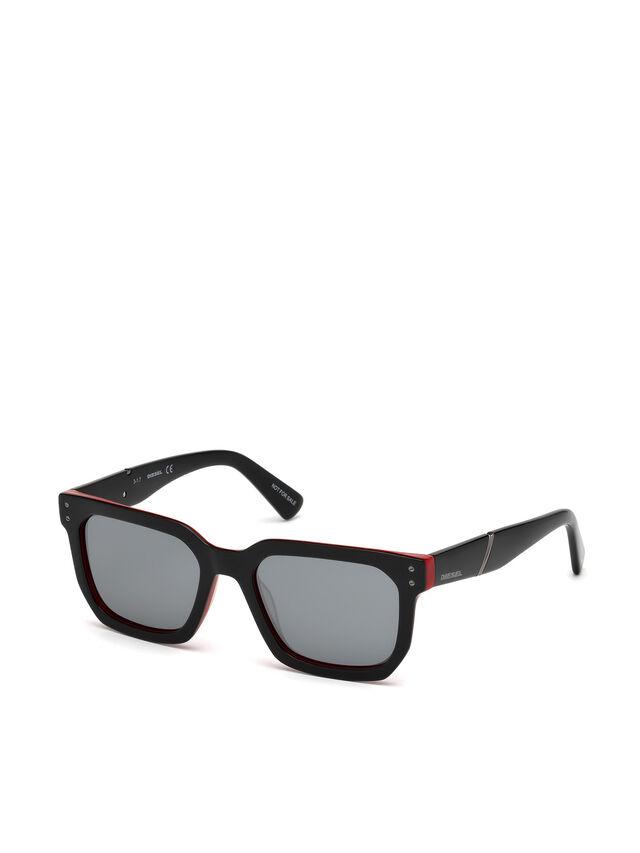 Diesel - DL0253, Schwarz/ Rot - Sonnenbrille - Image 4