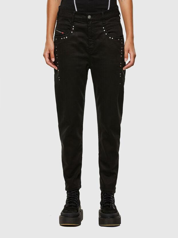 Fayza JoggJeans 069NC, Schwarz/Dunkelgrau - Jeans