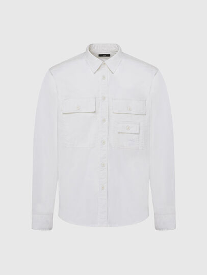 Diesel - S-ALLEN-KA, Weiß - Hemden - Image 1