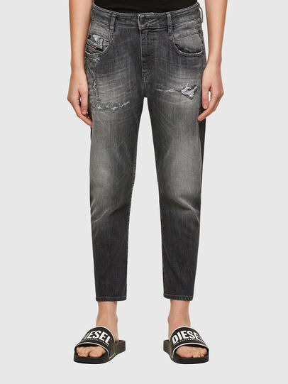 Diesel - Fayza JoggJeans® 009QT, Schwarz/Dunkelgrau - Jeans - Image 1