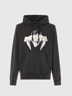S-GIRRIB-HOOD-A71, Schwarz - Sweatshirts