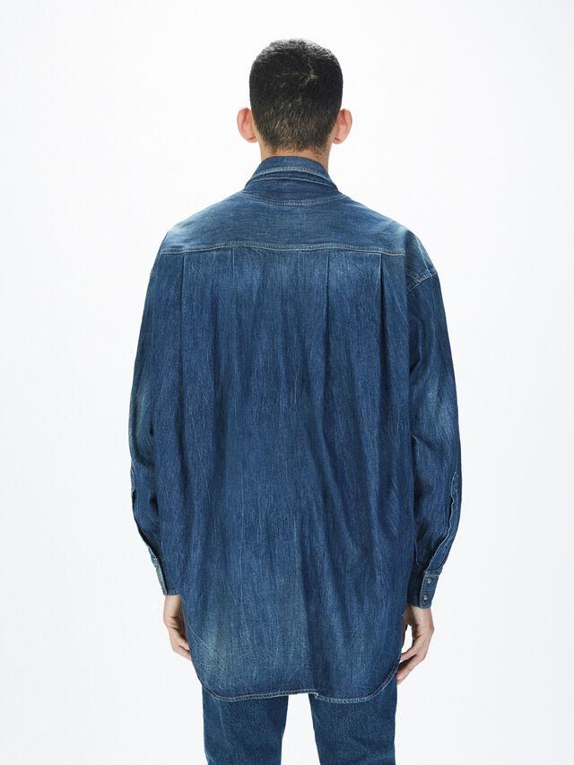 Diesel - SOTS01, Jeansblau - Hemden - Image 5
