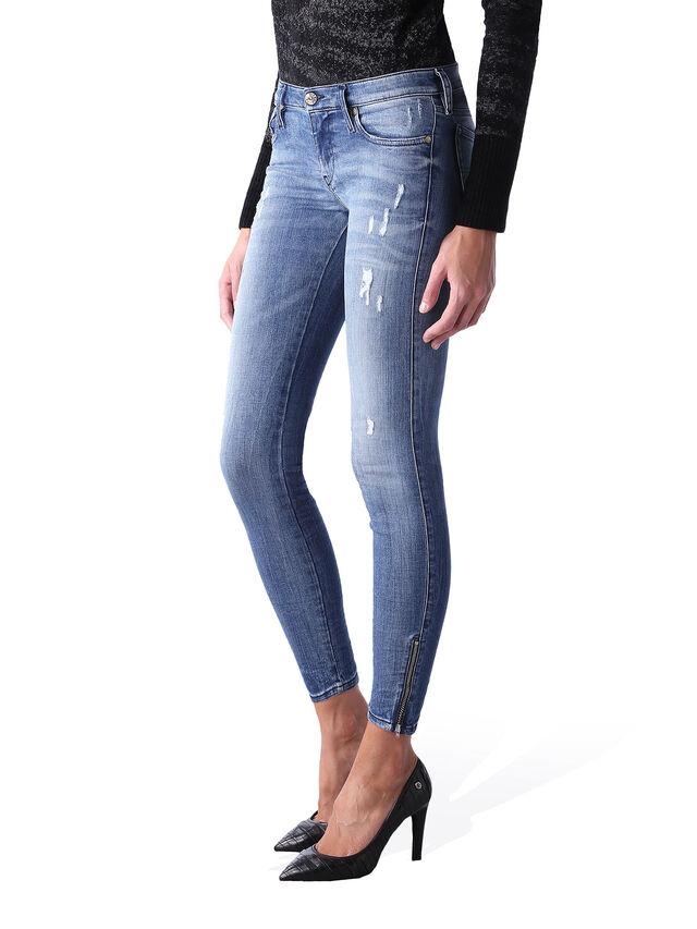 Diesel - Skinzee Low Zip 0847U, Mittelblau - Jeans - Image 3