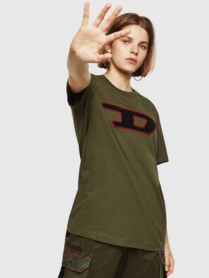 T-JUST-DIVISION-D-FL, Armeegrün - T-Shirts