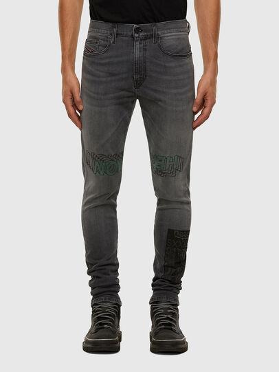 Diesel - D-Amny 009GL, Schwarz/Dunkelgrau - Jeans - Image 1
