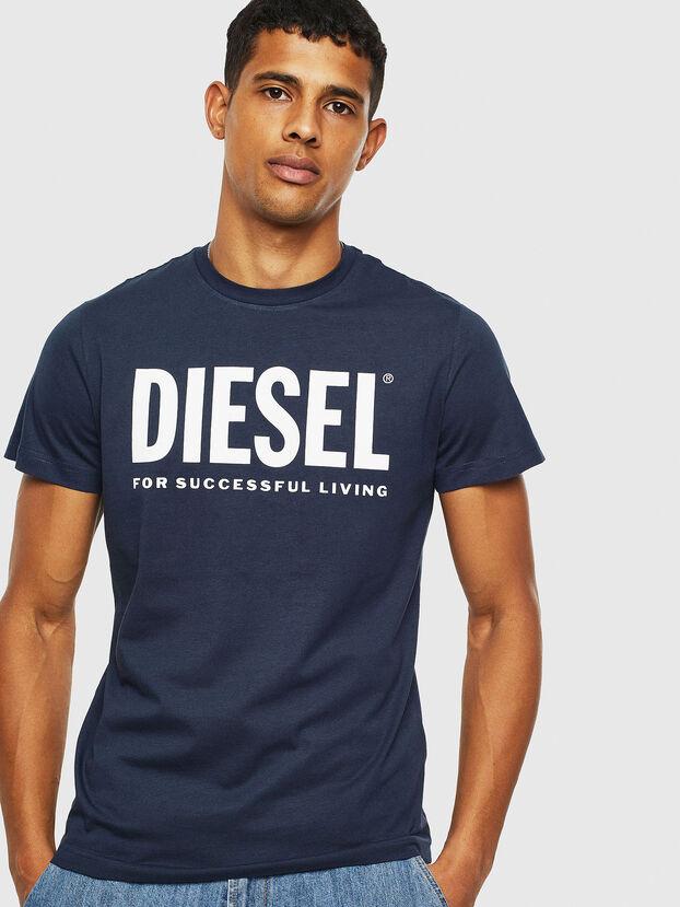 T-DIEGO-LOGO, Blau - T-Shirts