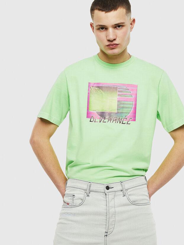 T-JUST-NEON-S1, Neongrün - T-Shirts