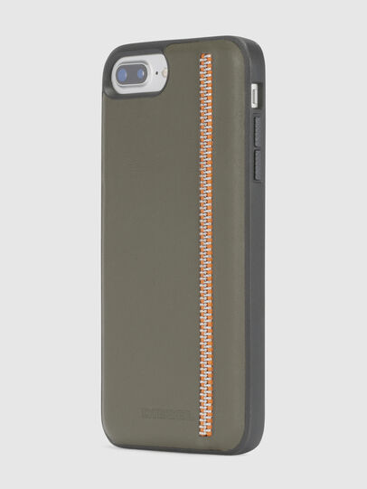 Diesel - ZIP OLIVE LEATHER IPHONE 8 PLUS/7 PLUS/6s PLUS/6 PLUS CASE, Olivgrün - Schutzhüllen - Image 3