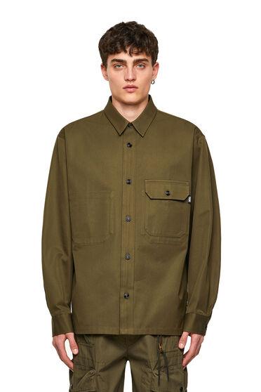 Green Label Overshirt aus Twill
