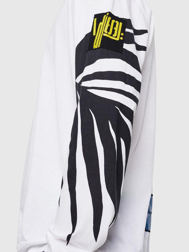 Diesel - T-JUST-LS-RIB, Weiß - T-Shirts - Image 3