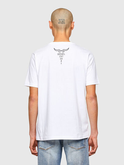 Diesel - CL-T-JUST-O, Weiß - T-Shirts - Image 3
