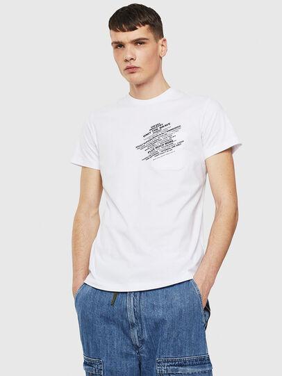Diesel - T-WORKY-S1, Weiß - T-Shirts - Image 1