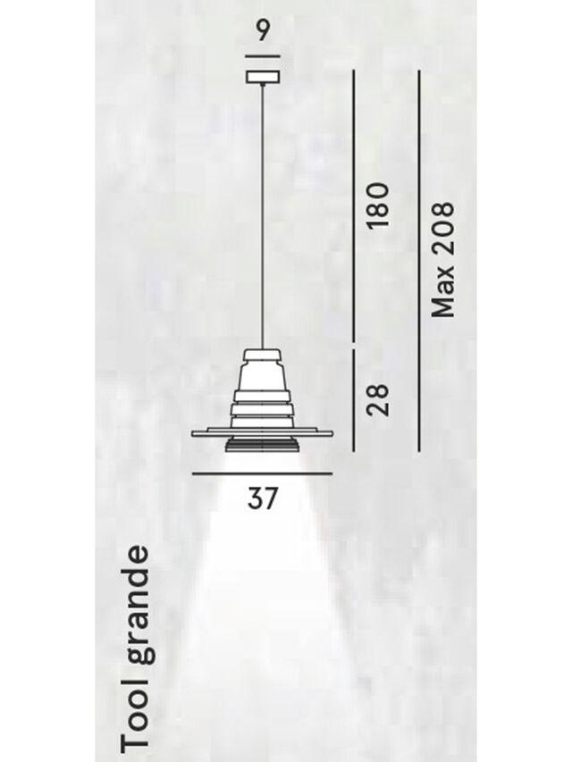 Diesel - TOOL GRANDE SOSP, Schwarz - Pendellampen - Image 2