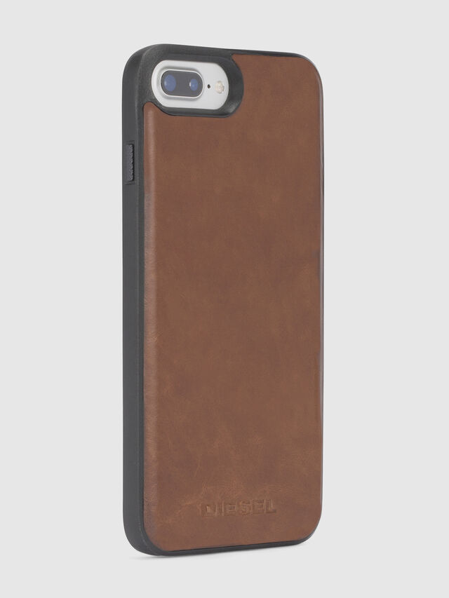 Diesel - BROWN LEATHER IPHONE 8 PLUS/7 PLUS/6s PLUS/6 PLUS CASE, Braun - Schutzhüllen - Image 4