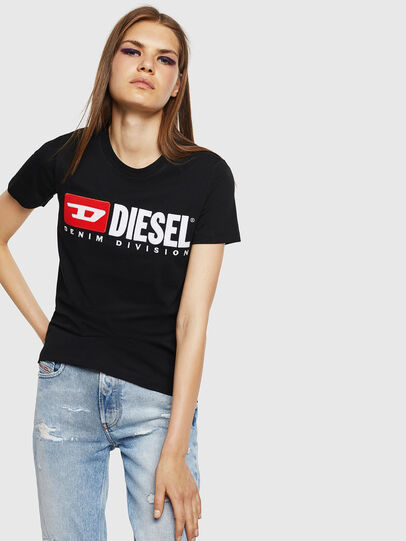 Diesel - T-SILY-DIVISION, Schwarz - T-Shirts - Image 1