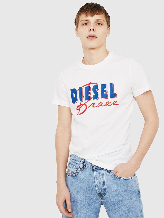 Diesel - T-DIEGO-C2, Weiß/Rot/Blau - T-Shirts - Image 1
